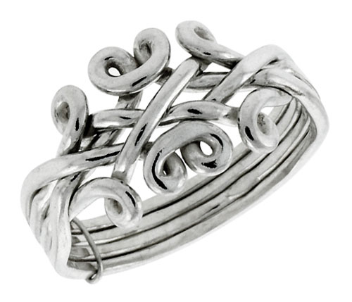 celtic bling claddagh ring silver pmr jewelry band heart rings puzzle sterling