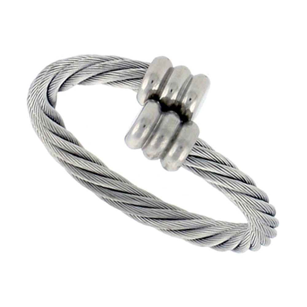 Surgical Stainless Steel Cable Ring 2.5 mm Fits sizes 7 - 9