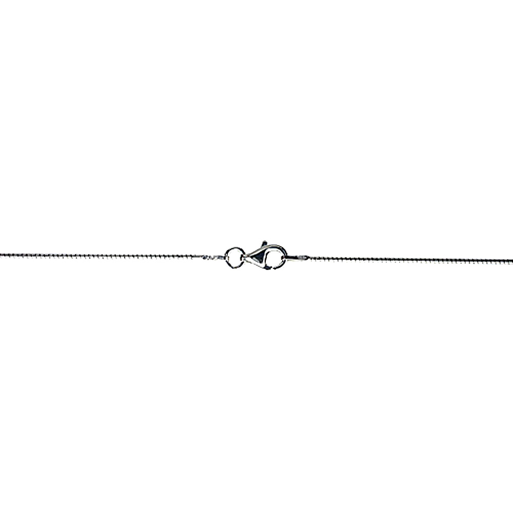Sterling Silver Soft Wire Round Omega Neck 1mm Choker Nickel Free Italy, sizes 16 - 20 inch