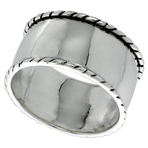 Sterling Silver Dome Ring 1/2 inch wide, sizes 6 - 11