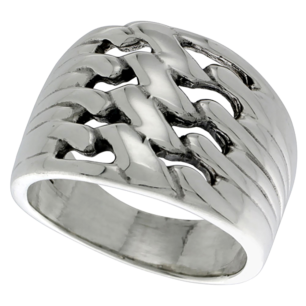 Sterling Silver Twist Knot Ring 3/4 inch wide , sizes 5 - 14