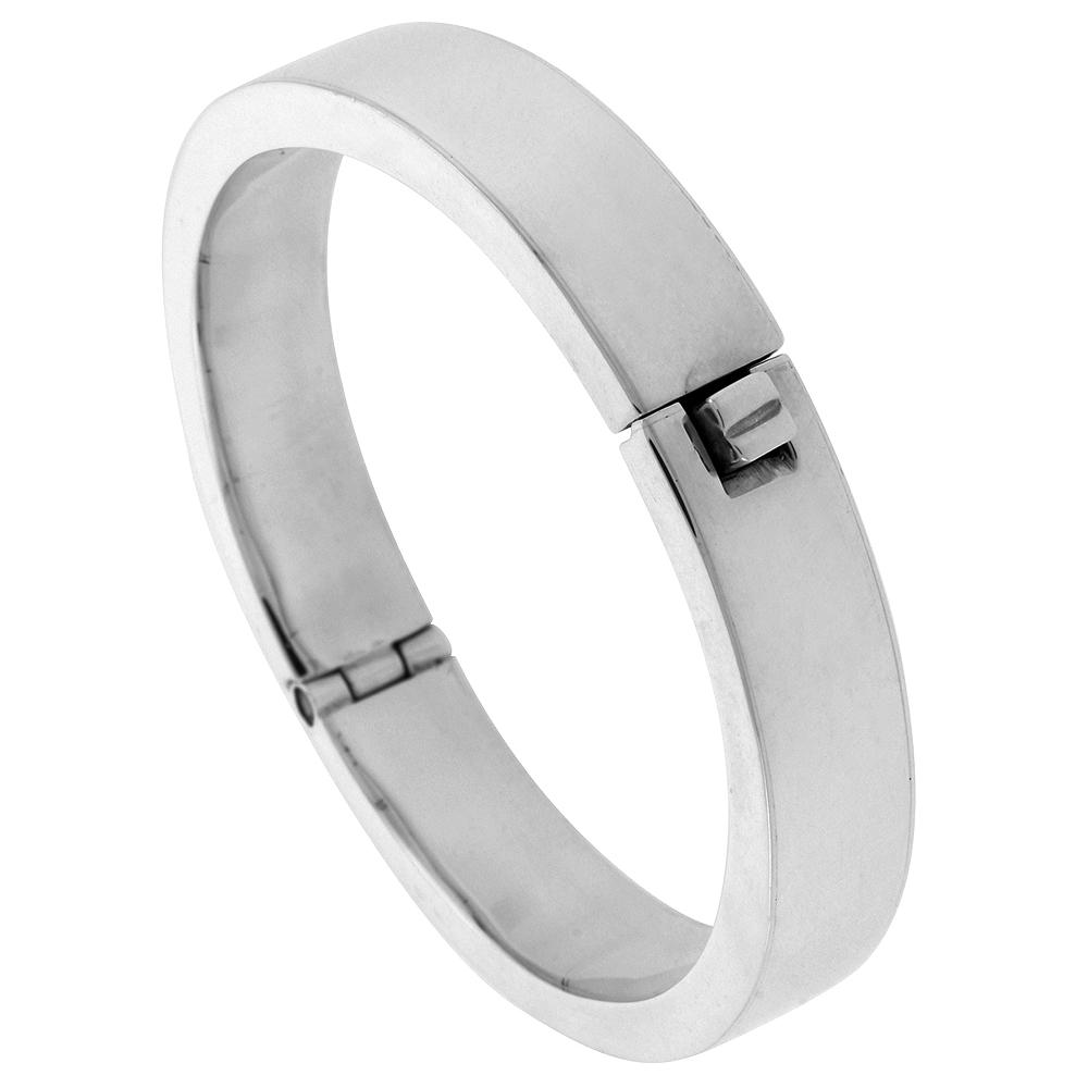42bf94803b4 Sterling Silver Bangle Bracelet Hinged Handmade 7.25 inch