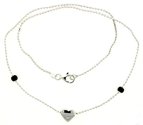 Sterling Silver Necklace / Bracelet with a Heart Slide