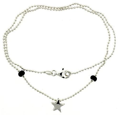 Sterling Silver Necklace / Bracelet with a Star Slide