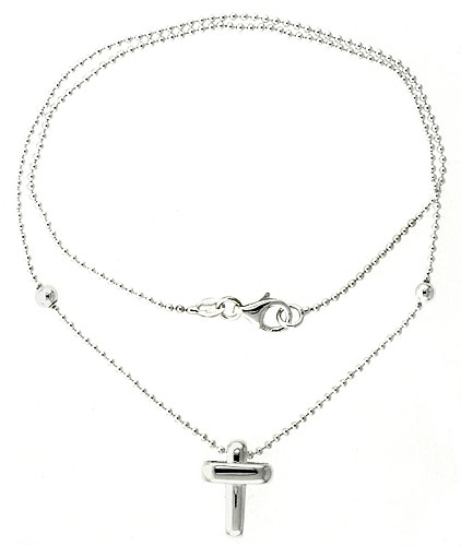 Sterling Silver Necklace / Bracelet with a Cross Slide